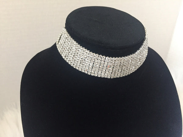 DIAMONDS ARE FOREVER CHOKER (SILVER)