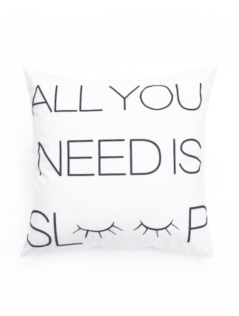 ALL YOU NEED IS SLEEP PILLOW COVER,  - Flamingo PINK