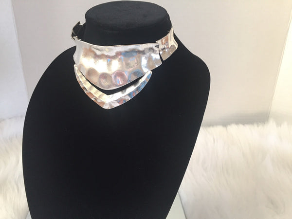 ANTIQUE SILVER COLLAR CHOKER