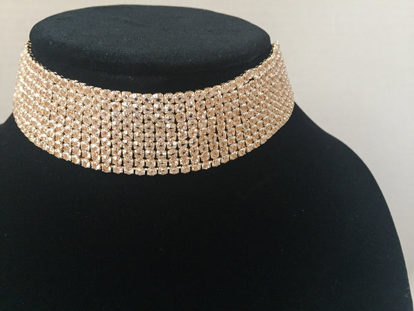 DIAMONDS ARE FOREVER CHOKER (GOLD)