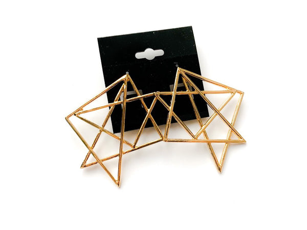 GEOMETRIC EARRINGS,  - Flamingo PINK