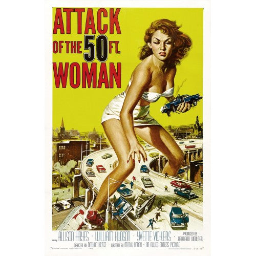 ttack of the 50 ft. Woman - Vintage Movie Poster
