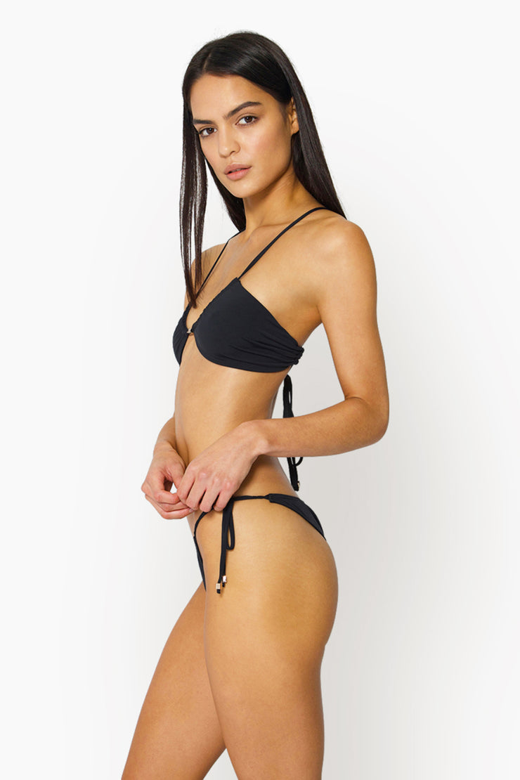 AYA TIE BOTTOM - BLACK