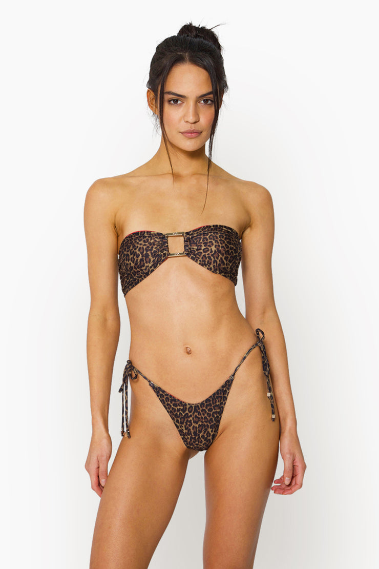 AYA TIE BOTTOM - LEOPARD