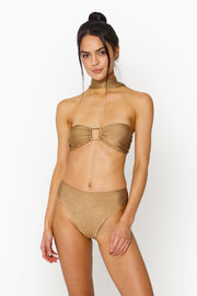 SABA HIGHWAISTED BOTTOM - GOLD