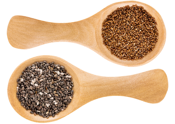 Flax and Chia Seeds ingredients in Breakfast Smoothie