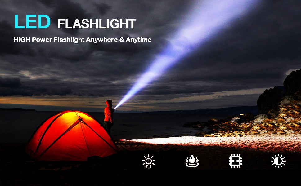 led flashlight bright brightest fishing camping