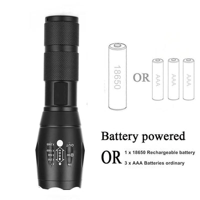 #1 Tactical Military-Grade LED Flashlight - Sixty Six Depot