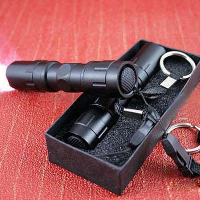Black Mini Waterproof Keychain LED Flashlight. - Sixty Six Depot