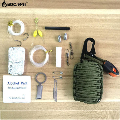 12 in 1 Grenade Style Survival Paracord Kit - Sixty Six Depot