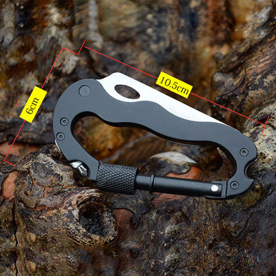 Outdoor Multi-function 5 in 1 Carabiner Tool - Sixty Six Depot