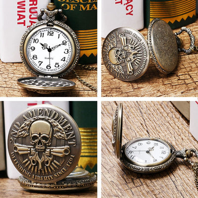 Skull Design Pocket Watch - Sixty Six Depot