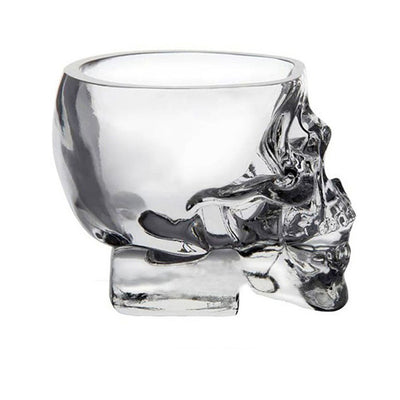 Skull Head Drinking Glass. - Sixty Six Depot