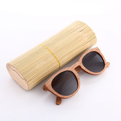 Unisex Zebra Wood Sunglasses - Sixty Six Depot