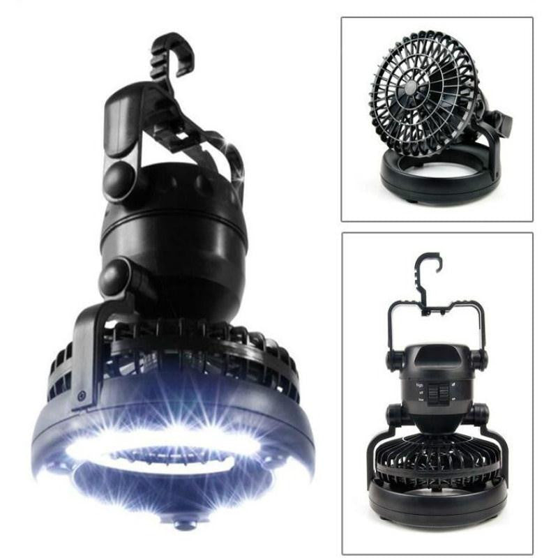High Powered 18 Led Camping Lantern With Ceiling Fan