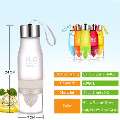 H2O Lemon Water Bottle - Sixty Six Depot