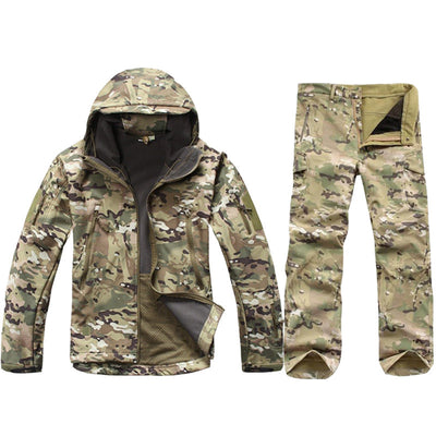 Waterproof Soft Shell Camo Jacket + Pants - Sixty Six Depot