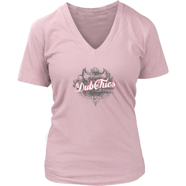 DubChics / Heart Crown V-Neck