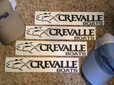 "12"" Crevalle Boats logo Vinyl Decal"