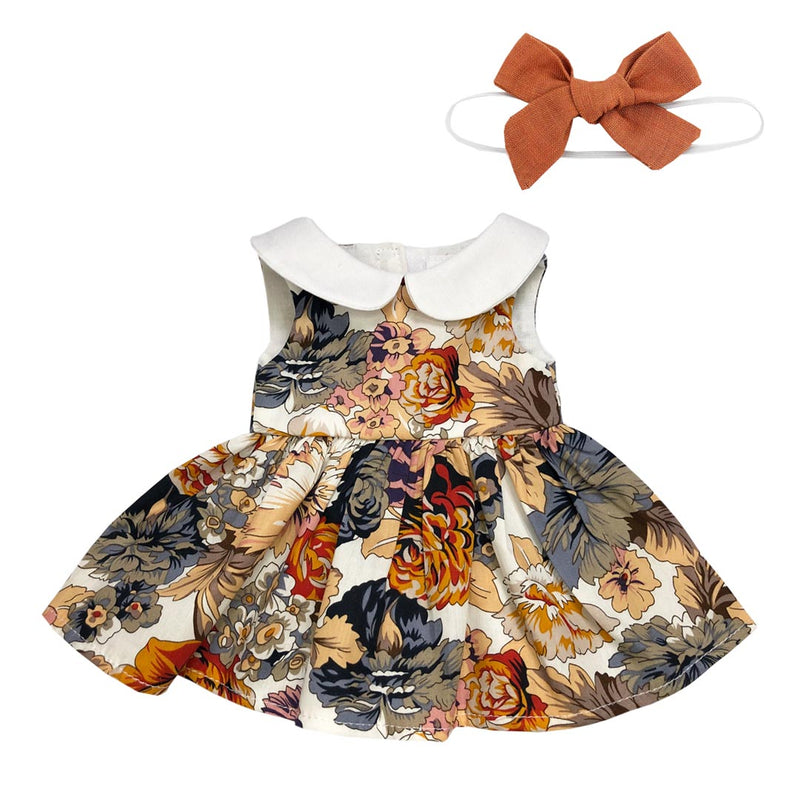 Autumn Picnic Dress with Bow