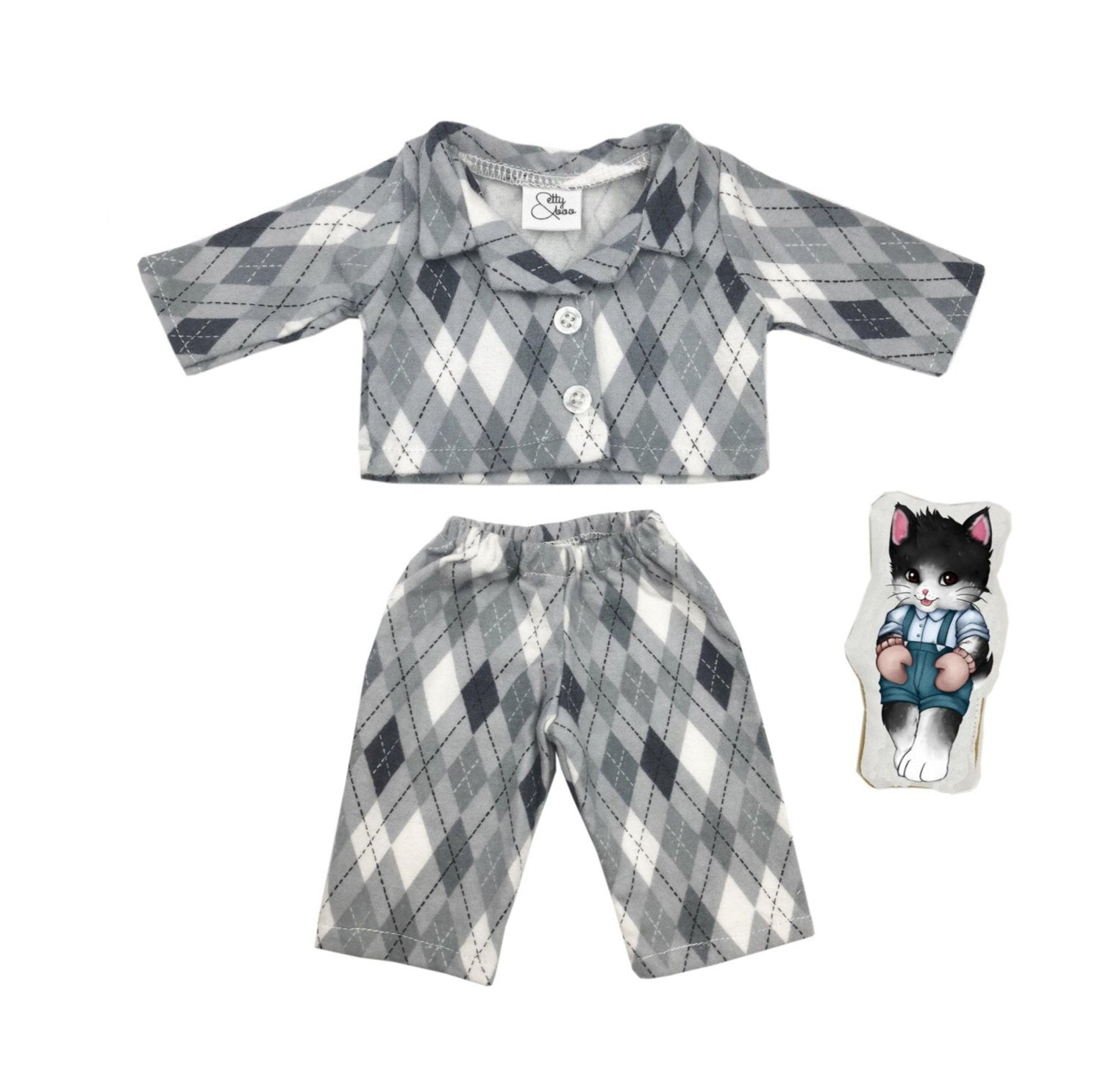 My Mini Boo Grey Boys PJ's