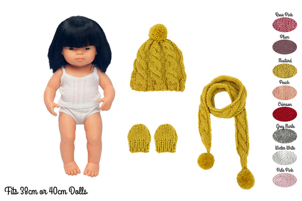 My Mini Boo Cable Knit Set