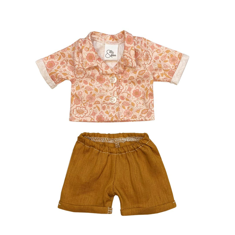Winter Floral shirt and short set