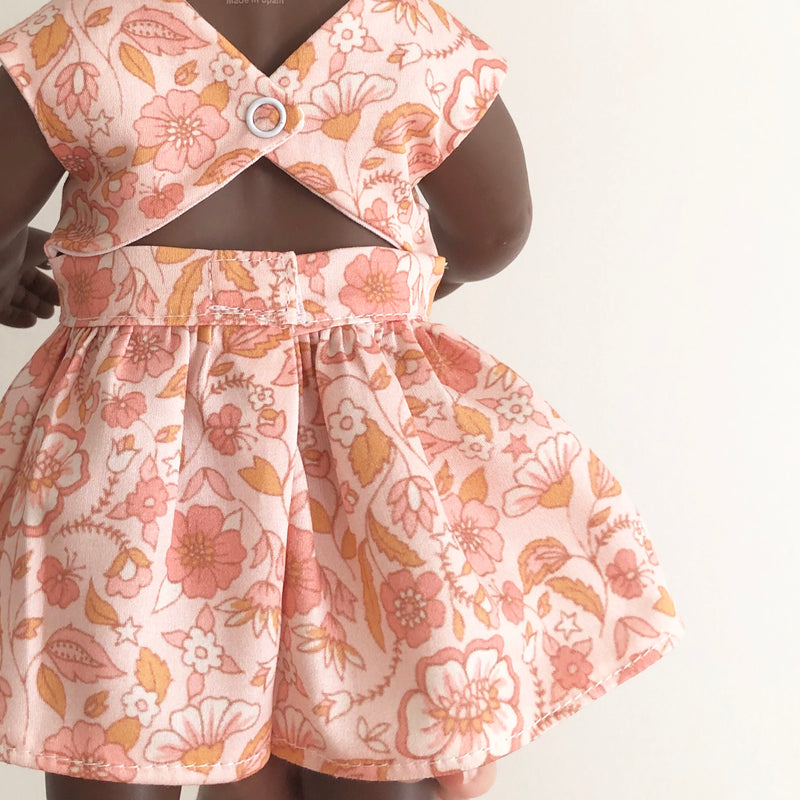 Peach Peekaboo Dress