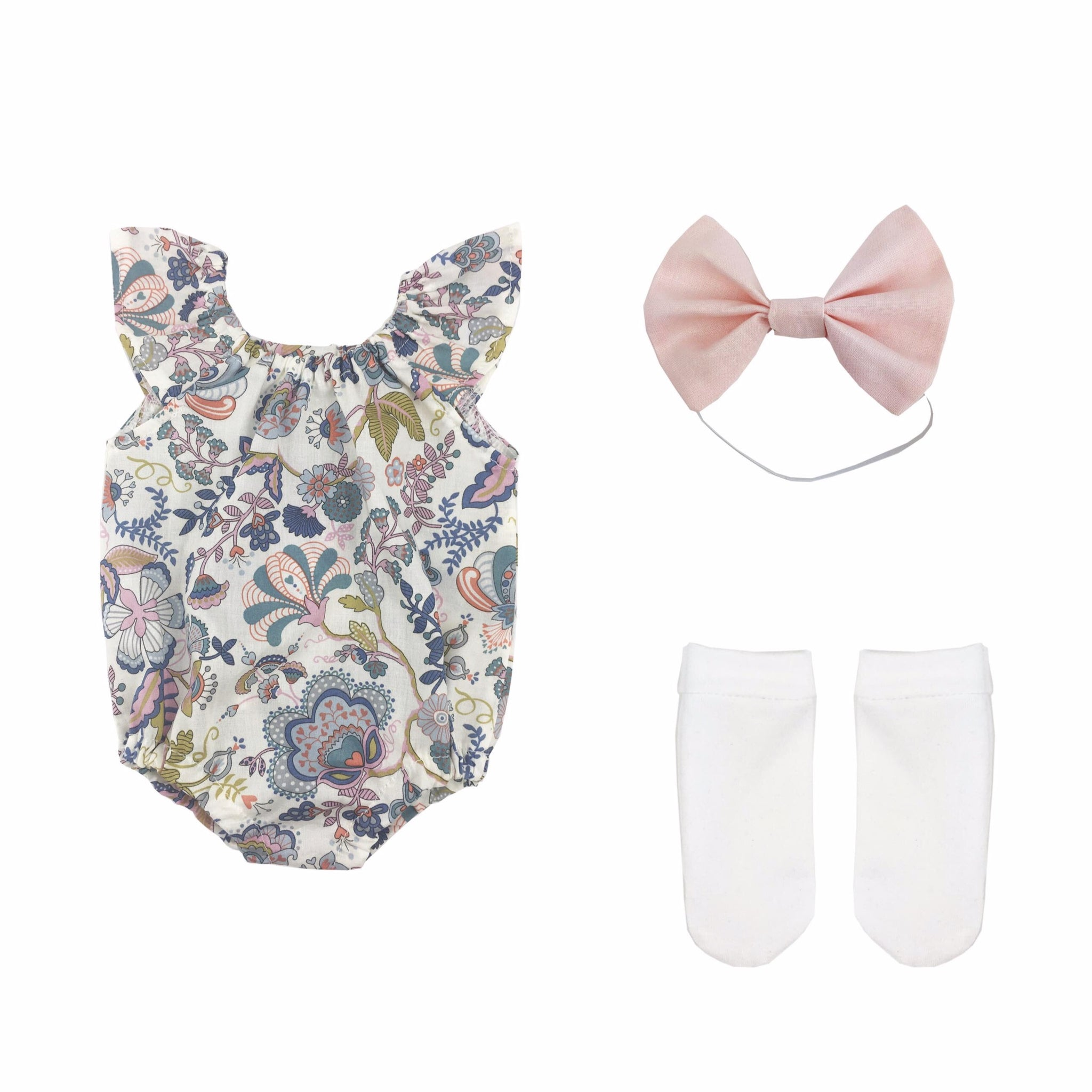 Mabelle Romper and socks set