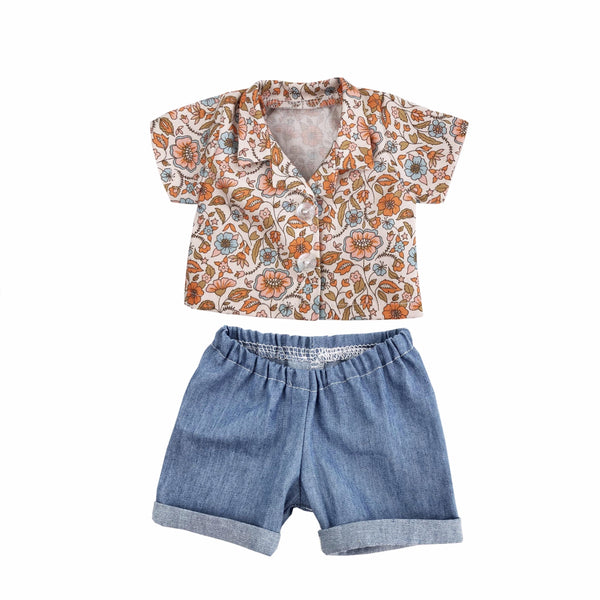 Floral shirt and short set