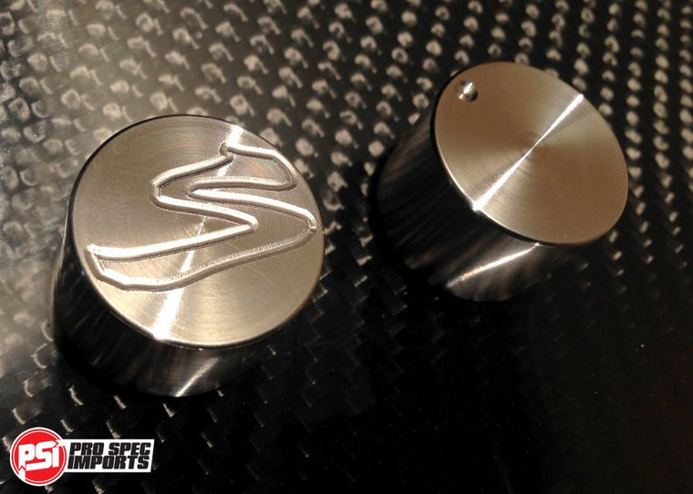 Custom Billet Stainless Dials for Heater & Fan Control