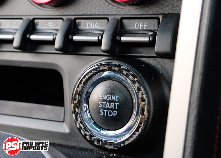 Subaru BRZ Premium - Carbon Fiber Start Button Surround & Ignition Blank