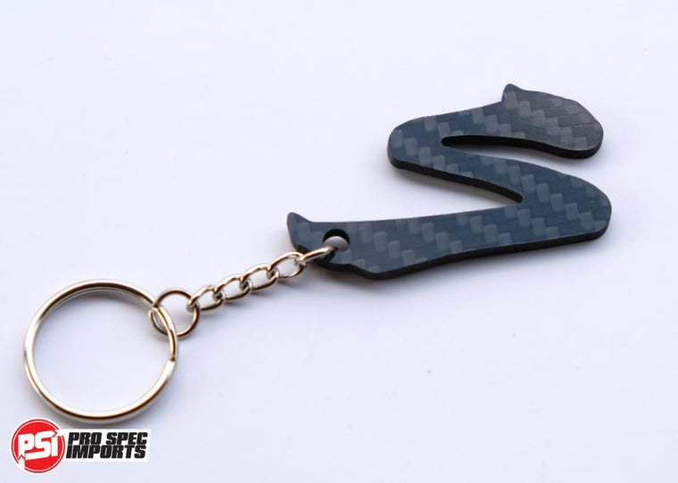 Carbon Fibre 'S' logo Supra Key Ring