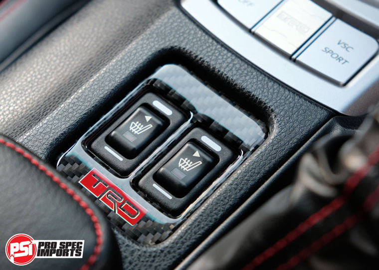 86 GTS - TRD Style Carbon Fiber Seat Warmer Button Surround