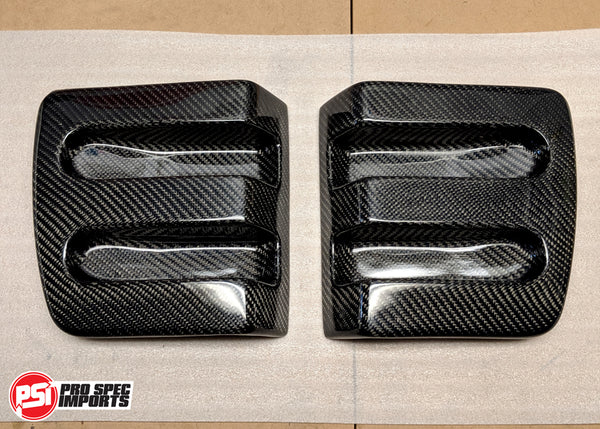Supra Carbon Fibre Number Plate Garnishes