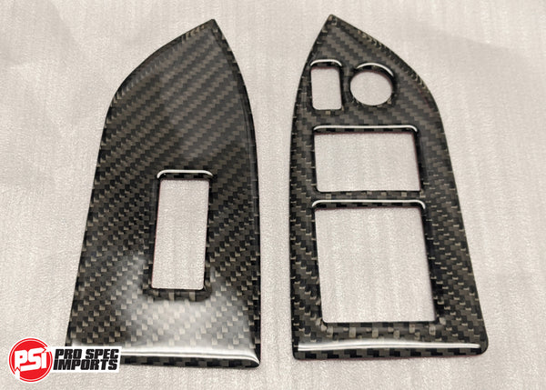 86 / BRZ Carbon Fiber drivers side AND Passenger side power window surround plates