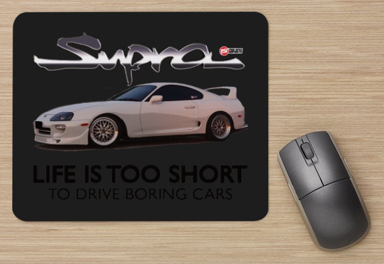 White Supra life is too short - Mouse Pad