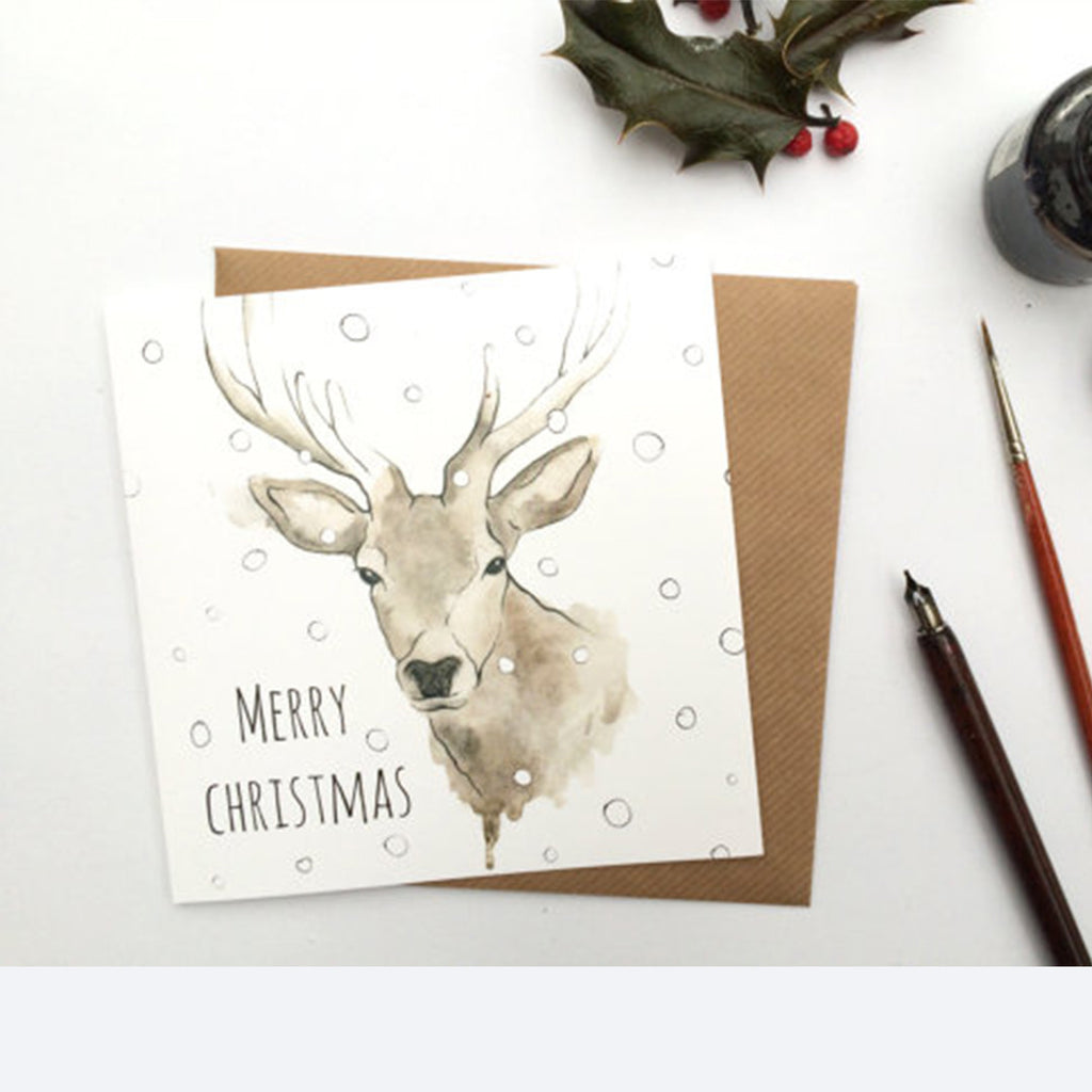 Christmas Stag Card