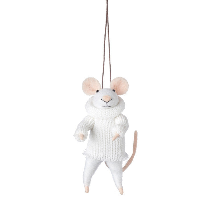 SNOW MOUSE HANGING DECORATION