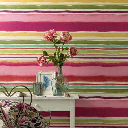 Clarke & Clarke wallpaper - Sunrise stripe - Multi