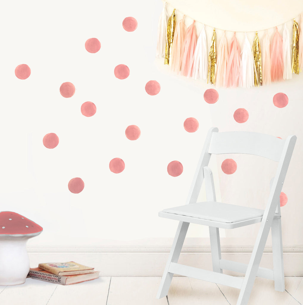 Watercolour Spot decal - Soft pink
