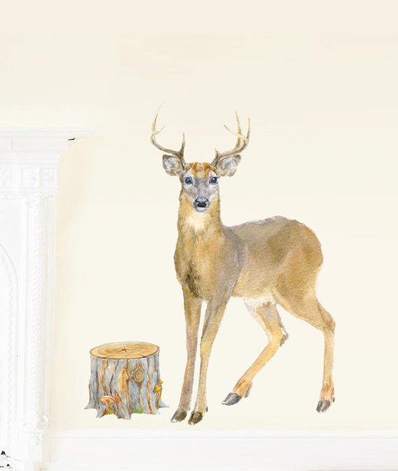Stag Fabric Decal