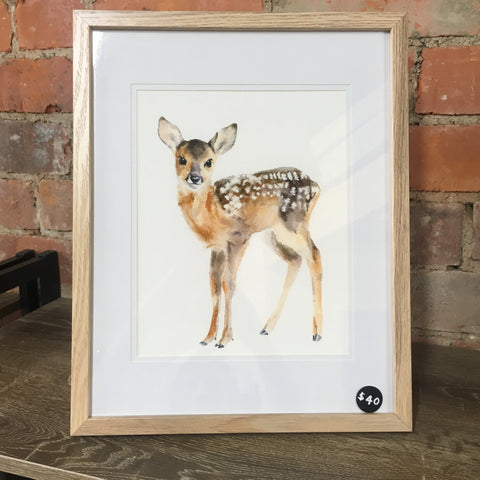 'Spotted fawn' framed print