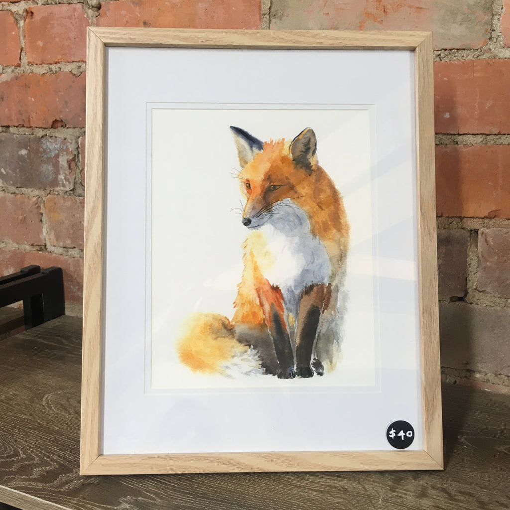 'Mr Fox' framed print