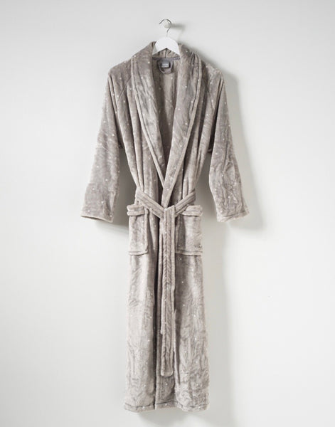 Citta Spot Women's Velour Dressing Gown