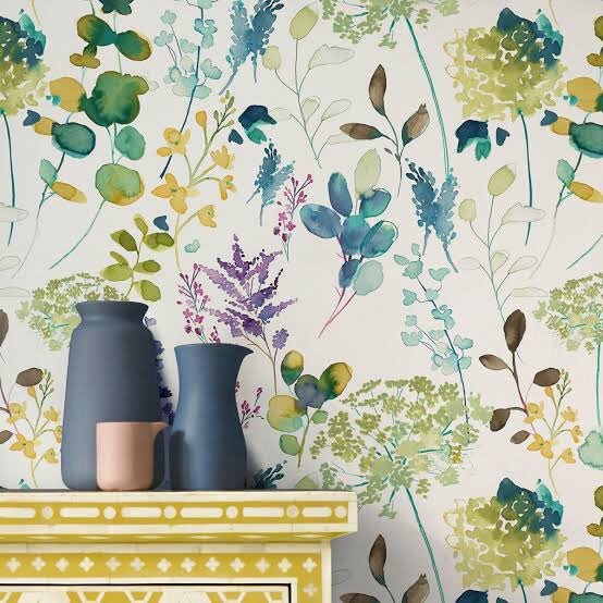 Bluebellgray Botanical Wallpaper (10m)