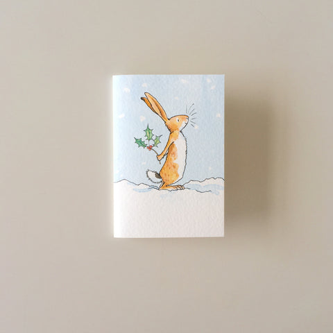 Bunny Holly Card mini