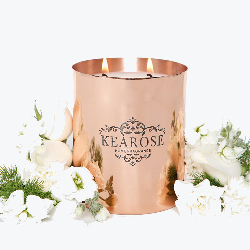 Kearose Deluxe Rose Gold Pure Soy Candle