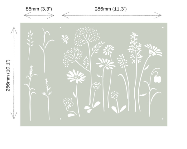 Annie Sloan - Meadow Flowers Stencil