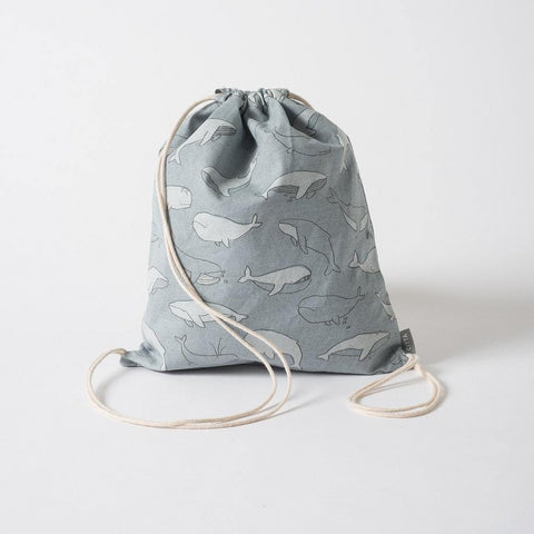 City's Whale Drawstring Bag